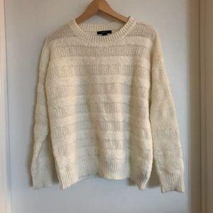 F21 ivory sweater